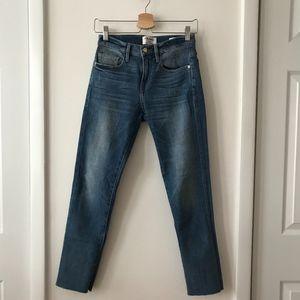 Frame Le Boy Raw Hem Ankle Jeans